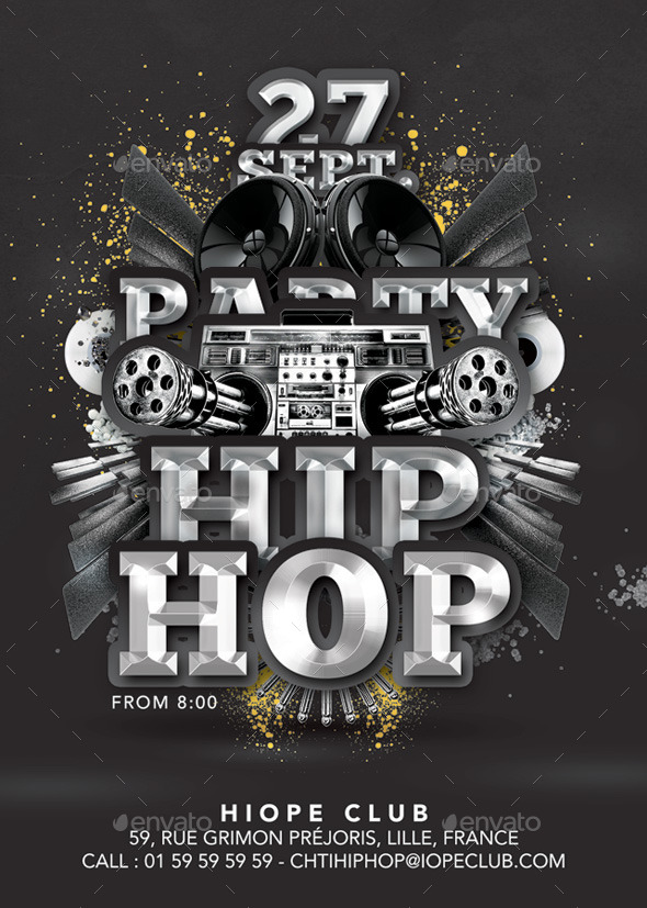 GraphicRiver Hip Hop Special Party In Club 8980193