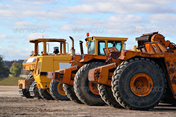 Stock Photo - PhotoDune earth moving equipments 924906