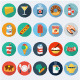 Food Flat Icons, Set 2 - GraphicRiver Item for Sale
