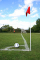Soccer Ball on the Corner of Field - PhotoDune Item for Sale
