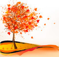 Autumn background with a tree. - PhotoDune Item for Sale