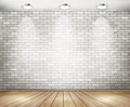 White brick room with spotlights - PhotoDune Item for Sale