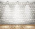 White brick room with spotlights - PhotoDune Item for Sale