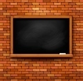 Brick wall with a blackboard. - PhotoDune Item for Sale
