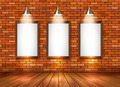 Brick show room with spotlights. - PhotoDune Item for Sale