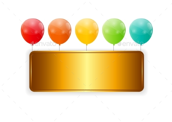 GraphicRiver Color Glossy Balloons Background Vector Illustration 8990779