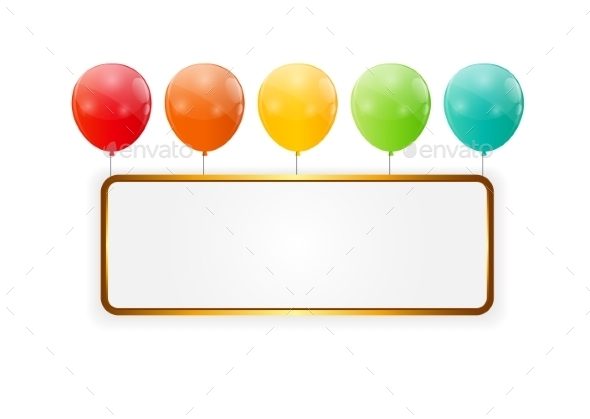 GraphicRiver Color Glossy Balloons Background Vector Illustration 8990780