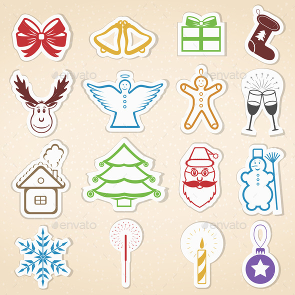 GraphicRiver Christmas Icons 8990803