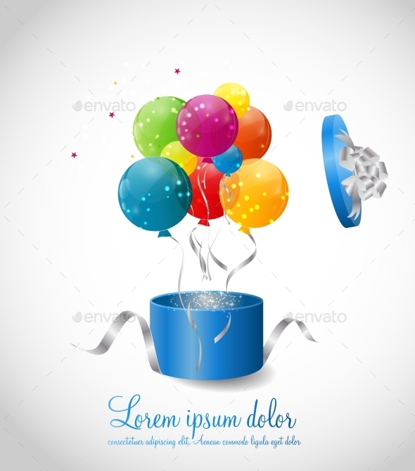 GraphicRiver Color Glossy Balloons Background Vector Illustration 8990865