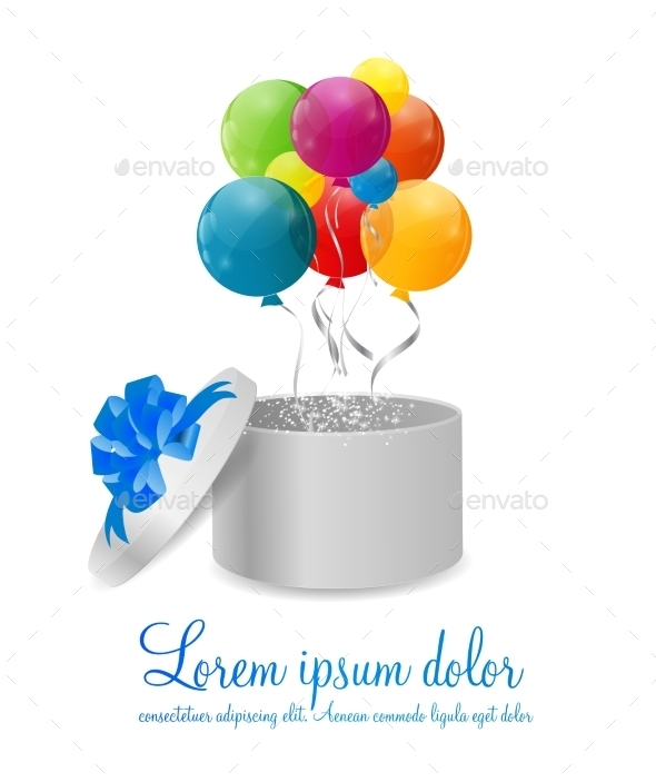 GraphicRiver Color Glossy Balloons Background Vector Illustration 8990872