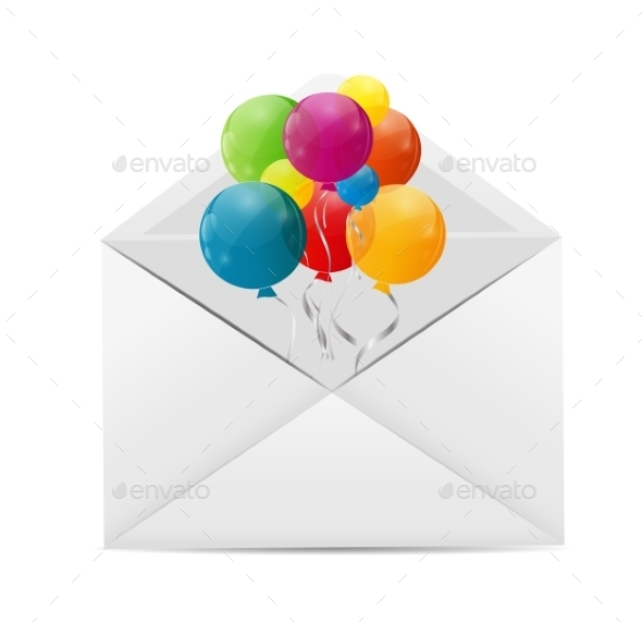 GraphicRiver Color Glossy Balloons Background Vector Illustration 8990881
