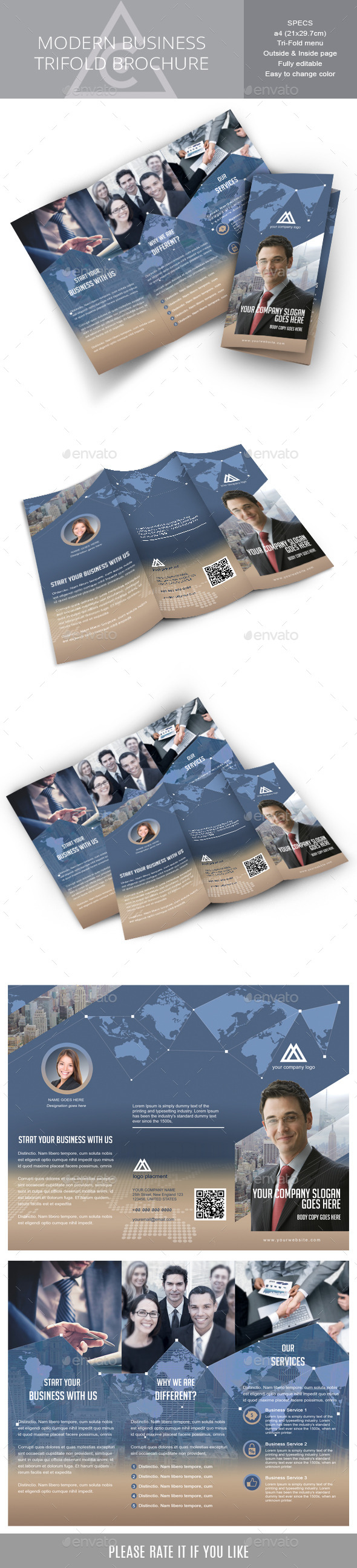 GraphicRiver Tri-fold brochure for Corporate Business 8990916
