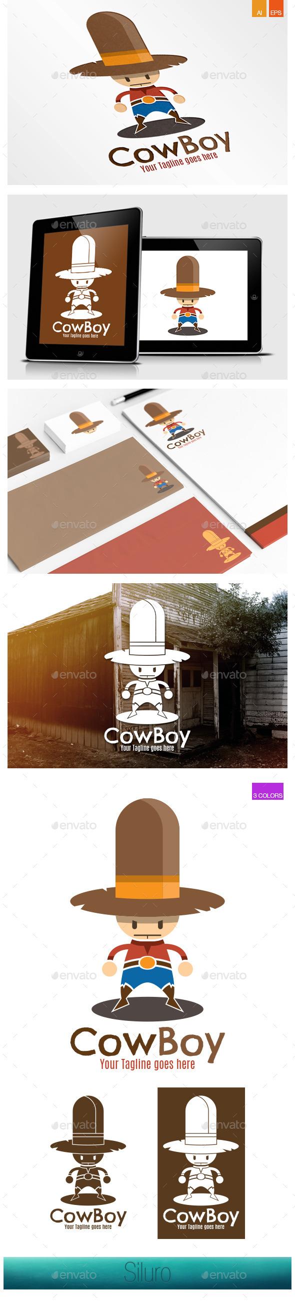 GraphicRiver CowBoy Logo 8991057