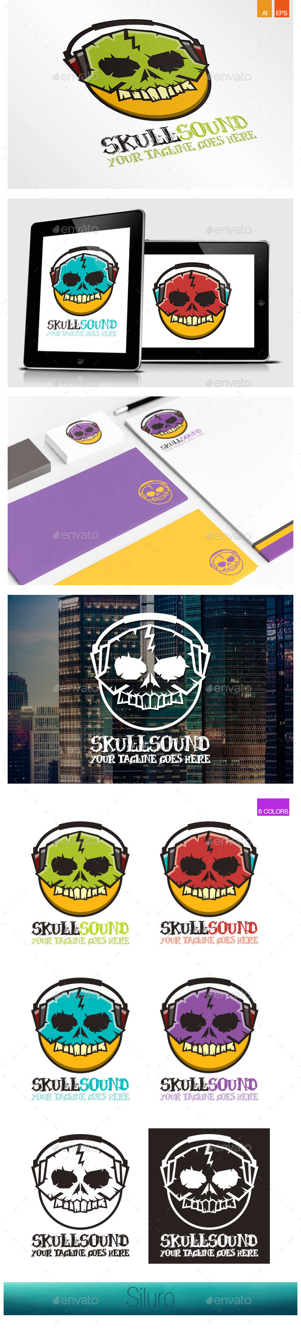 GraphicRiver Skull Sound Logo 8991062