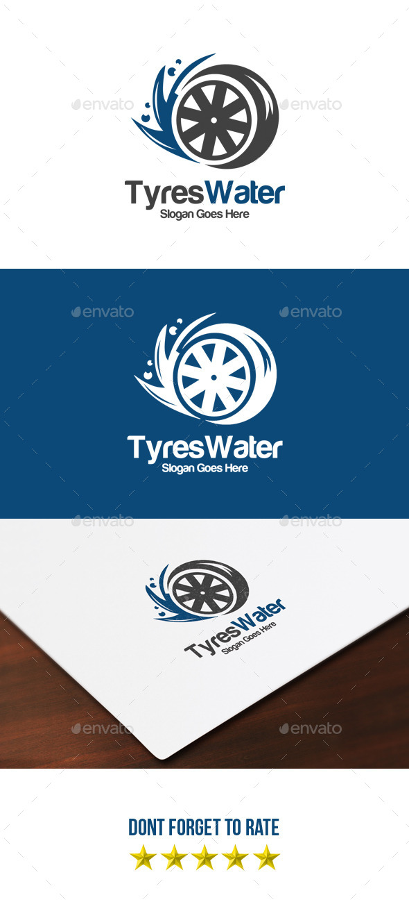 GraphicRiver Tyres & Water Logo 8991066