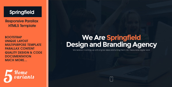 ThemeForest Springfield Responsive HTML5 Parallax Theme 8975101