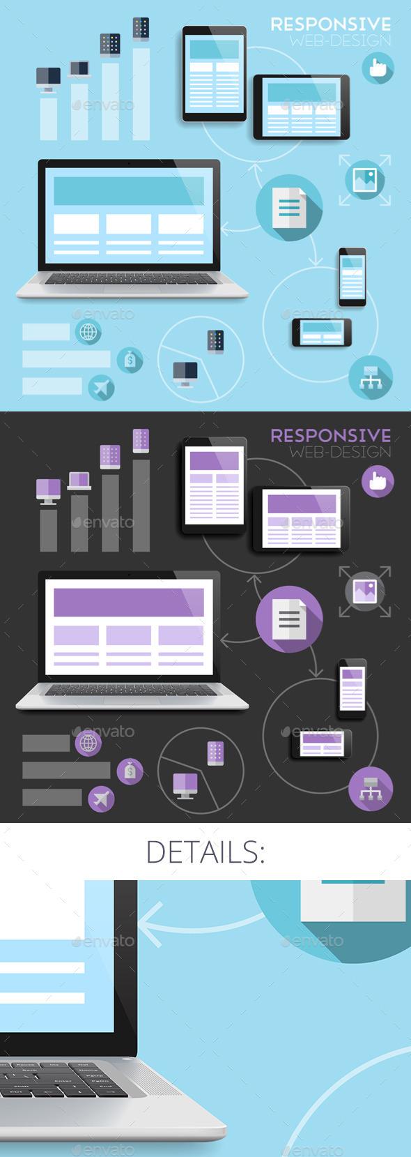 GraphicRiver Responsive Web-Design Concept 8991290