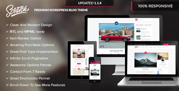 Scratch - Premium Wordpress Blog Theme - Personal Blog / Magazine