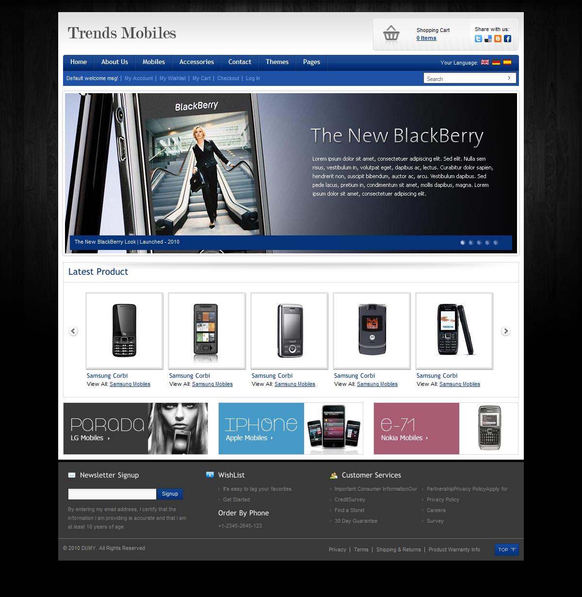 Trendy Mobile E-Commerce Shop