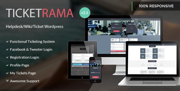 Ticketrama - Wordpress Helpdesk | Ticket | Support - Software Technology