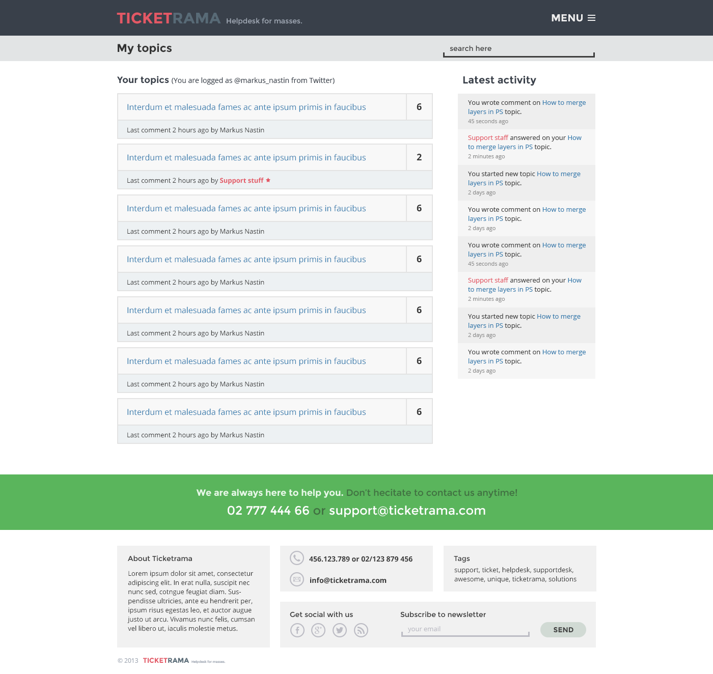 Ticketrama - Wordpress Helpdesk | Ticket | Support