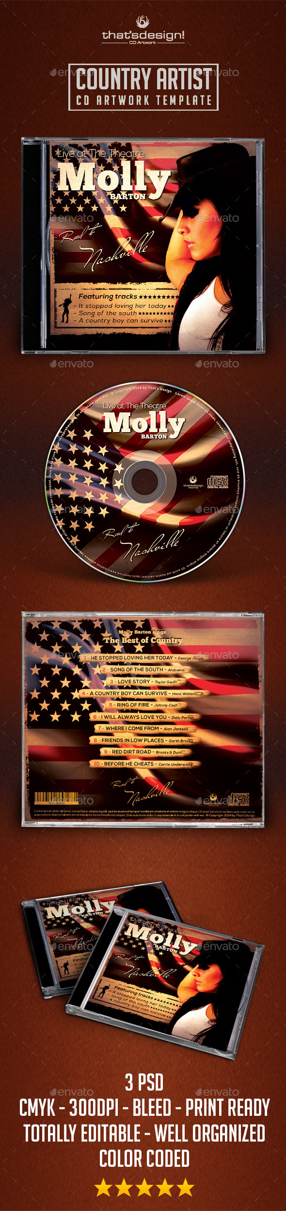 Country CD Album Artwork Template