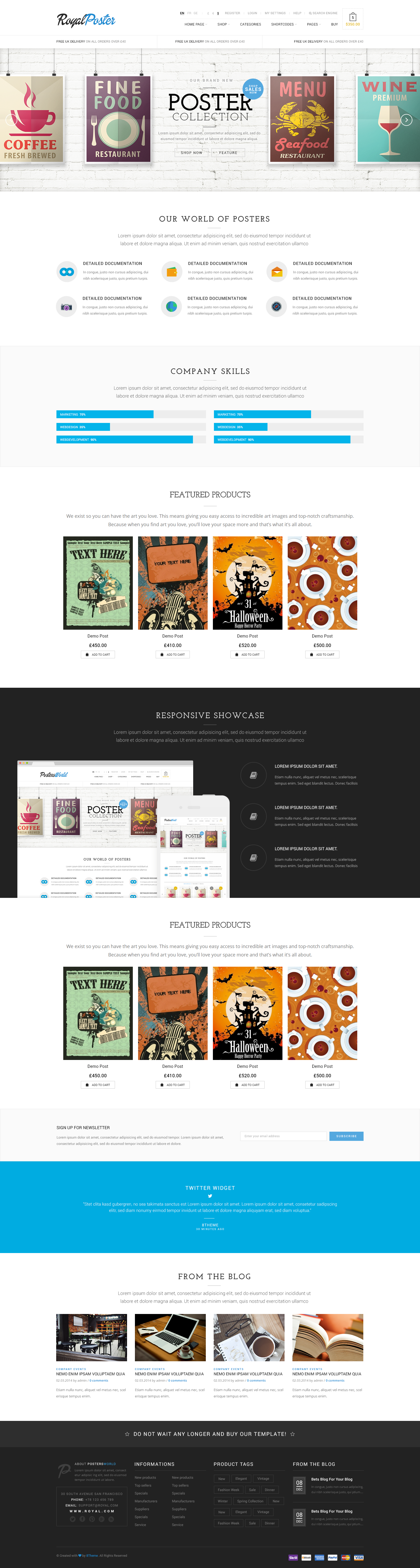 Royal Corporate And E Commerce Psd Theme By 8theme