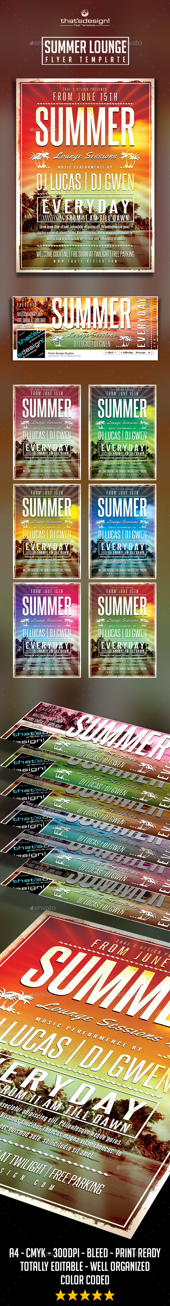 Summer Lounge Flyer Template V2