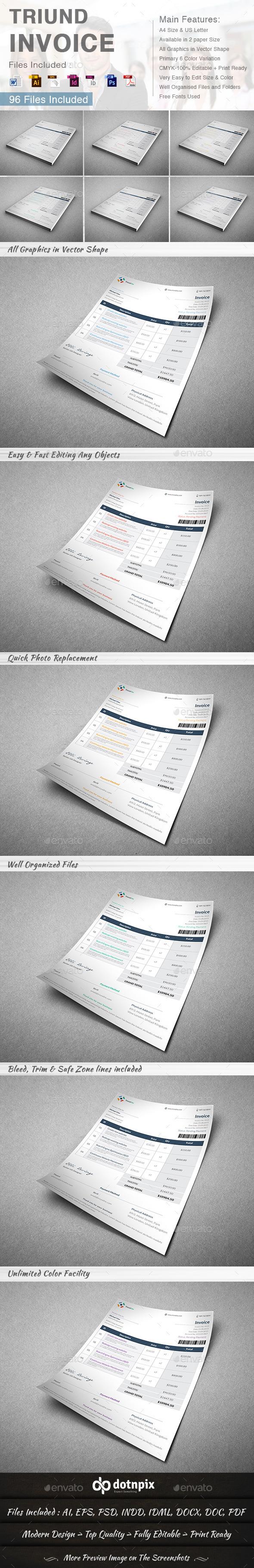 GraphicRiver Triund Invoice 8992121