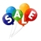 Color Glossy Balloons Sale Concept of Discount - GraphicRiver Item for Sale