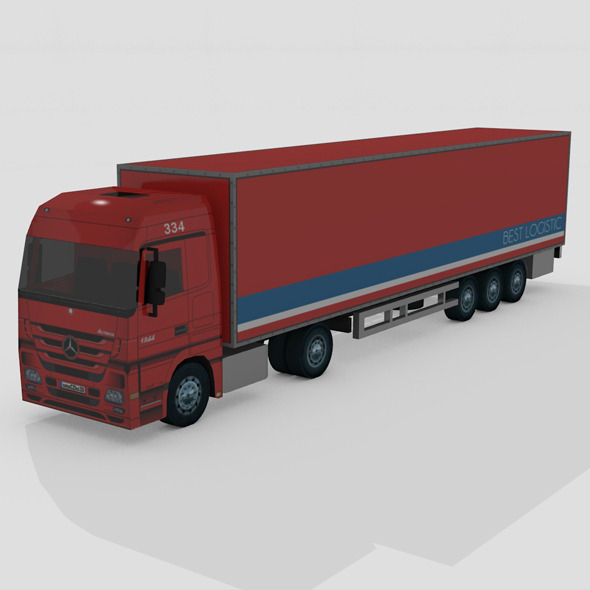 3DOcean LOW POLY TRUCK MERCEDES ACTROS 8992230