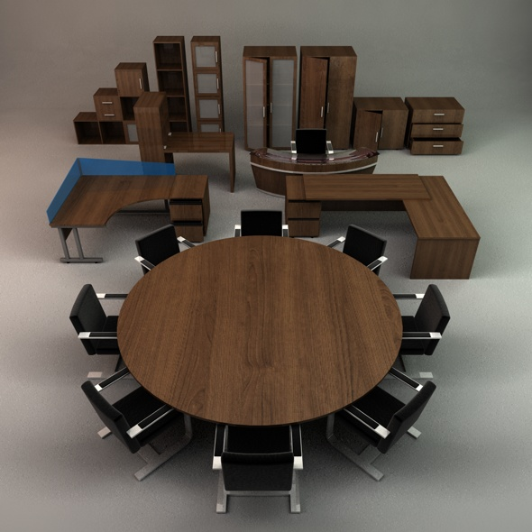 3DOcean Office Furniture Collection 116809