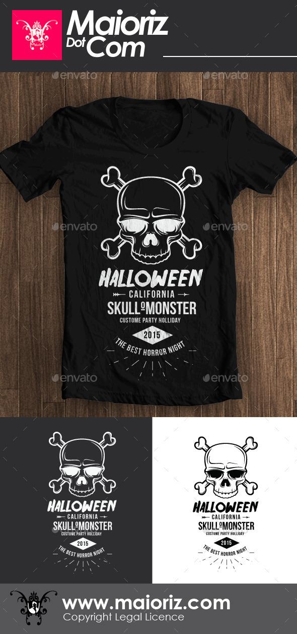 GraphicRiver Halloween Skull Tshirt 8992506