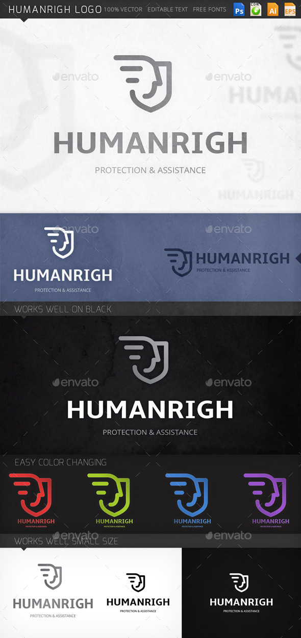 GraphicRiver Humanrigh Logo 8992555