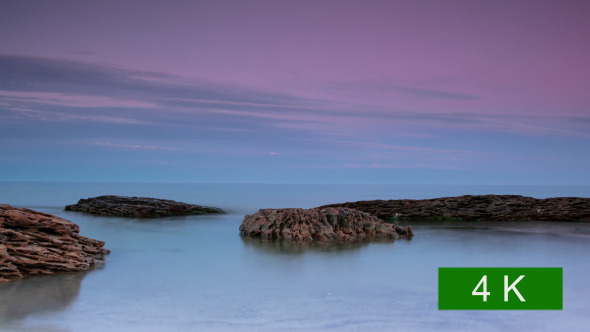 Sea and Stones after Sunset