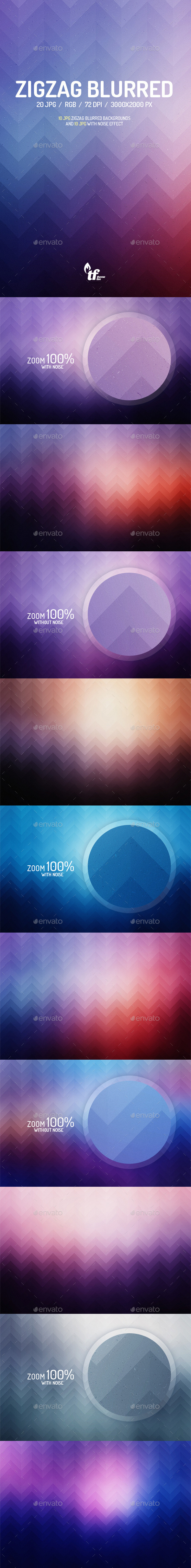 GraphicRiver Zigzag Blurred Backgrounds 8992820