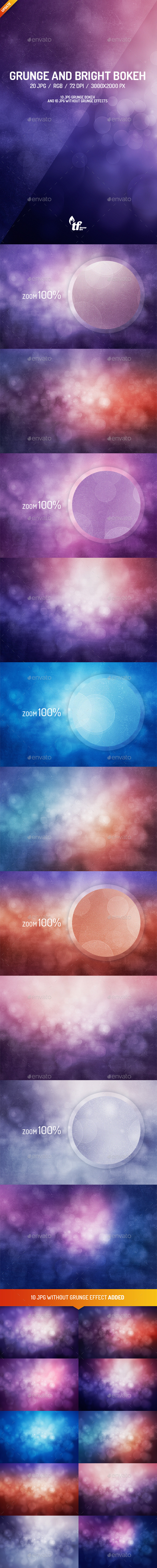 GraphicRiver 10 Grunge Bokeh Backgrounds 8988500