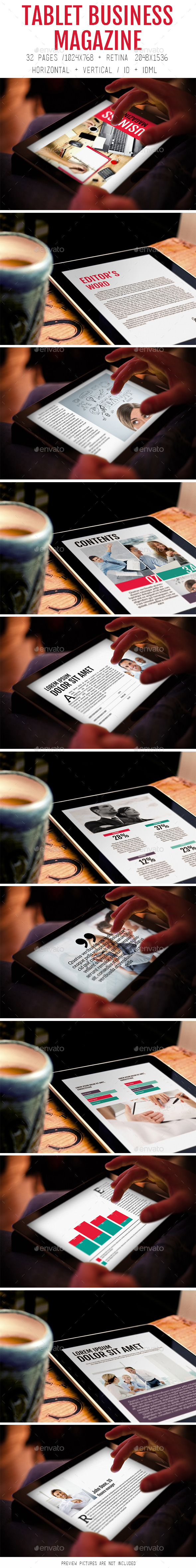 GraphicRiver Tablet Business Magazine 8993250