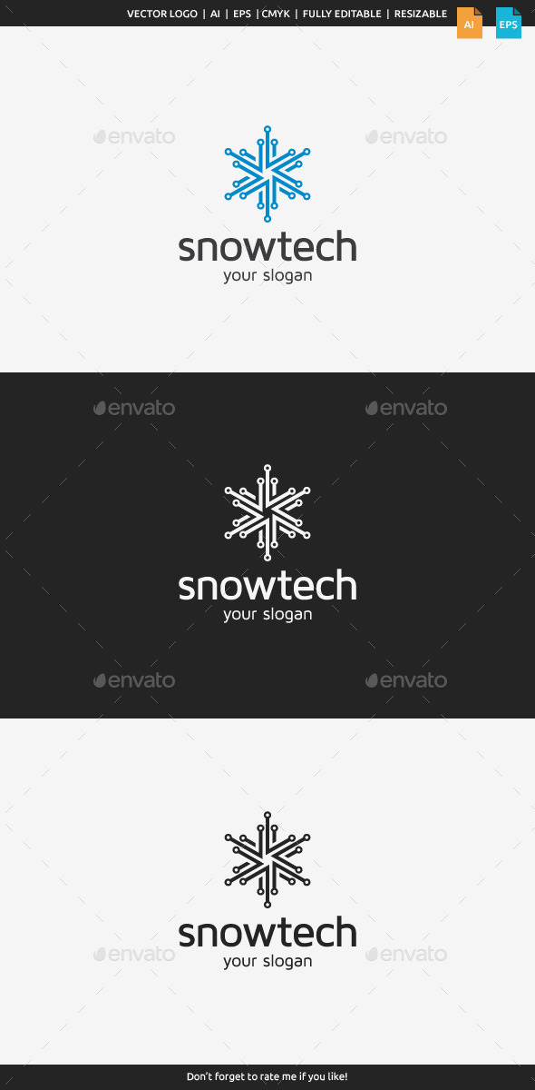 GraphicRiver Snow Tech Logo 8993267