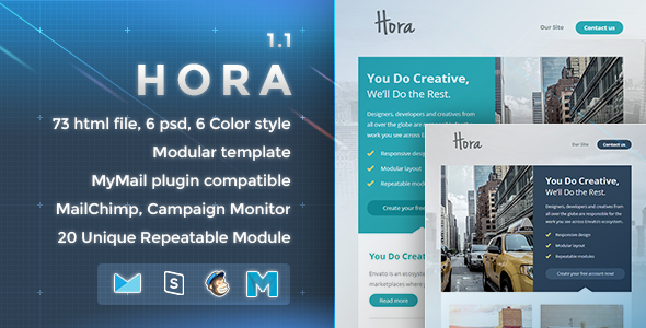 Hora - Responsive Email Template - Newsletters Email Templates