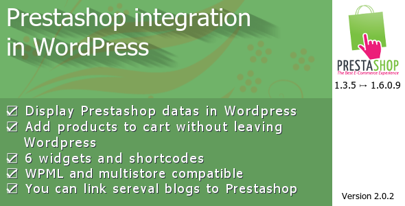 CodeCanyon Prestashop integration in WordPress 8993909