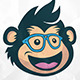 Monkey Geek Logo - GraphicRiver Item for Sale