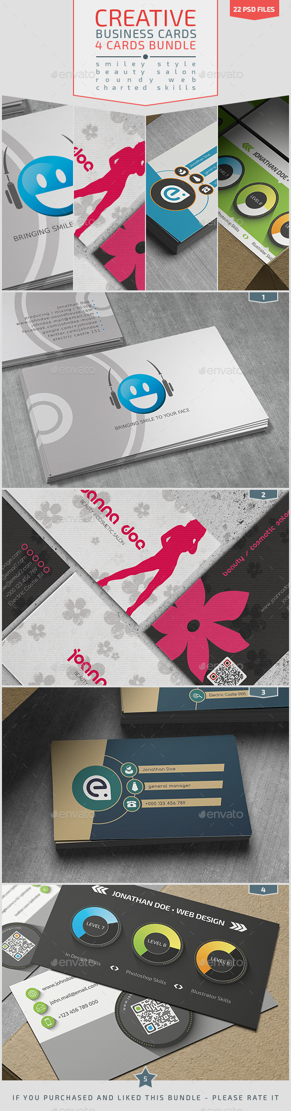 GraphicRiver Creative Business Cards Bundle 8994653