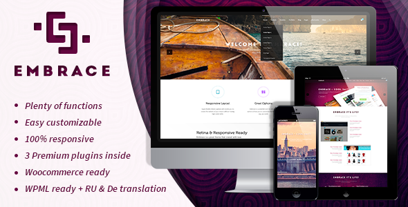 ThemeForest Embrace Creative Corporate Wordpress Theme 8931729