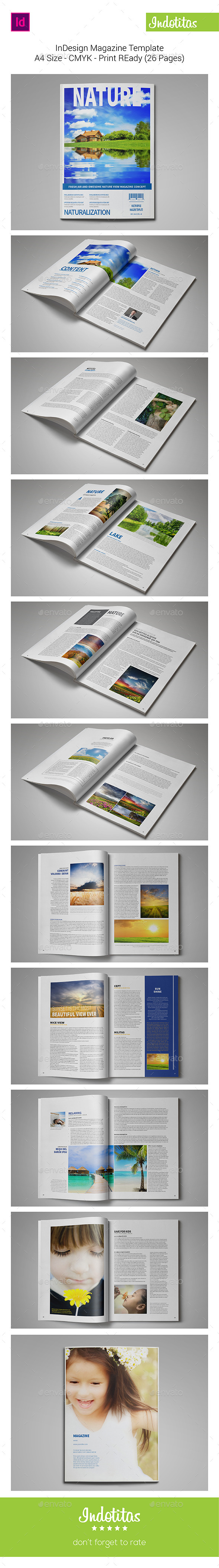 GraphicRiver Nature Magazine Template 8995410
