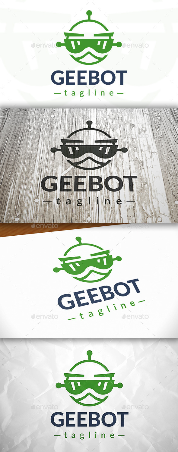 GraphicRiver Geek Robot Logo 8995649
