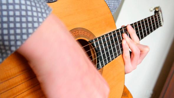 Strumming Playing Acoustic Guitar 3