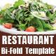 Restaurant Bi-Fold Half-fold Brochure Template - GraphicRiver Item for Sale