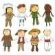 Cartoon Kids in Different Traditional Costumes - GraphicRiver Item for Sale