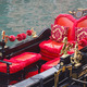 Golden figurines and red chairs - PhotoDune Item for Sale